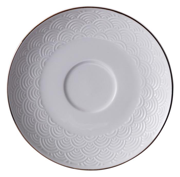Wit/Goude Onderzetter voor kopje Golven - Nippon White - 180ml